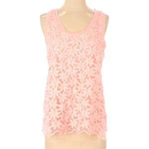 J Crew Sleeveless Boho Floral Lace Tank Top